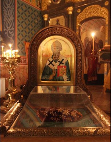 Икона святителя Спиридона и его башмачок
